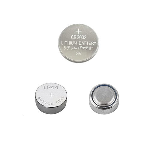 Photo of 1.5 and 3 volt button battery