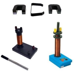 Three types of electromagnet inductance apparatusess