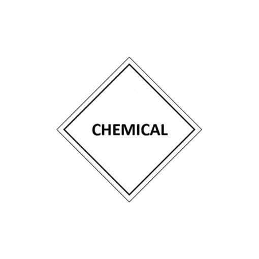 Iron II chloride chemical label