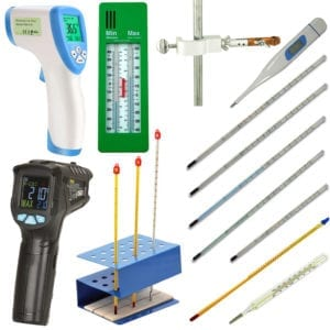 A variety of thermometers.