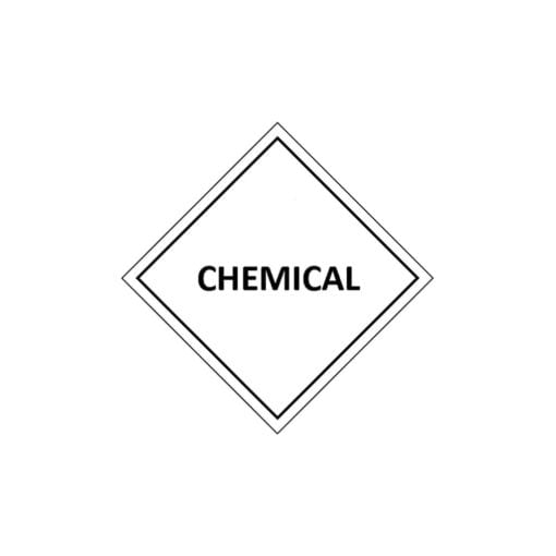 mercury ii sulphate chemical label