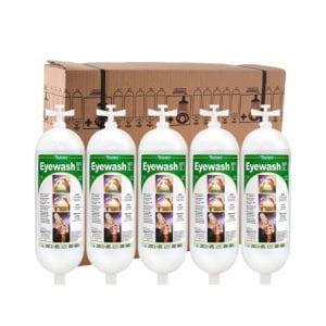Tobin eyewash replacement bottle pack of five.