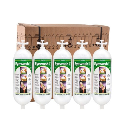 Tobin eyewash replacement bottle pack of five.