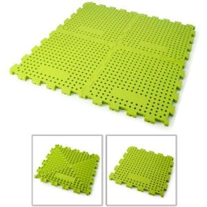 A light khaki green silicone mat.