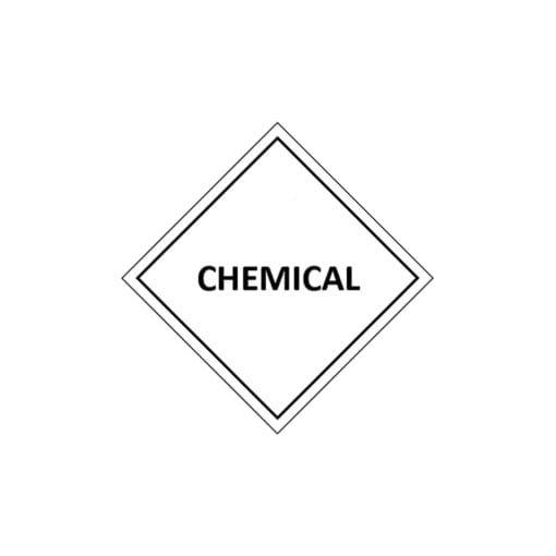 aluminium sulphate label