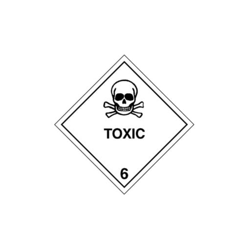 Chemical label for Barium Chloride.