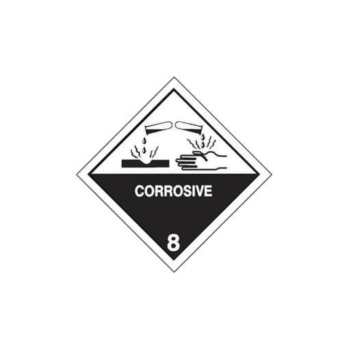 Chemical label for sebacoyl chloride