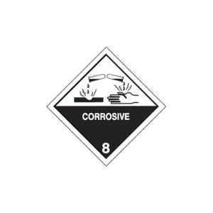 chemical label for soda lime