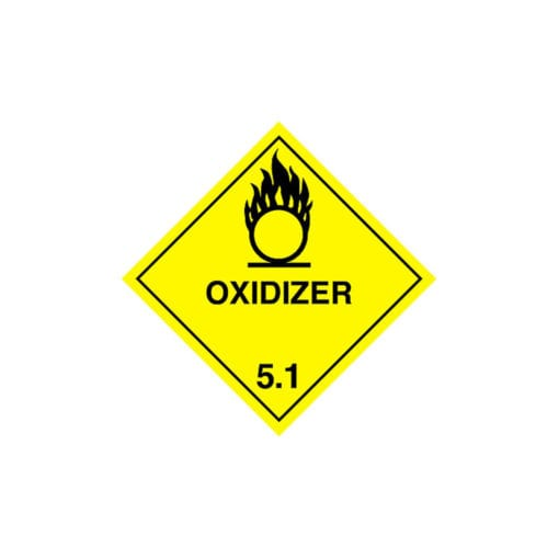 chemical label for sodium persulfate.